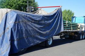 Truck tarping, fall protection, fall protection tarping, mobile tarping, mobile fall protection