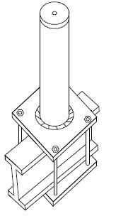 fabricated post, single point anchor, fall protection